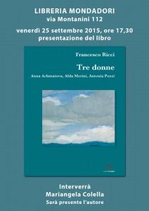 Presentazione del libro Tre Donne di Francesco Ricci