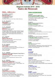 Cartellone Stagione Teatrale di Siena