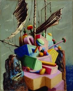 Alberto Savinio, Le navire perdu, 1928, olio su tela / oil on canvas, 82x66 cm, Collezione privata