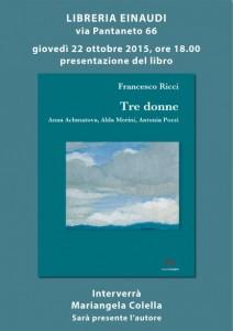 Tre Donne di Francesco Ricci alla Libreria Einaudi
