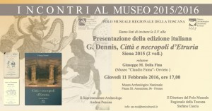 Presentazione CIttà e Necroli d'Etruria al Museo Archeologico Nazionale di Firenze