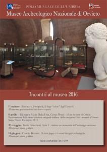 Incontri al Museo, Città e Necropoli d'Etruria a Orvieto