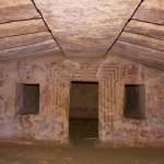 Tomba degli scudi a Tarquinia, il restauro