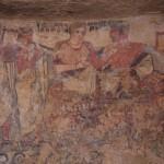 Tomba degli Scudi - particolare parete