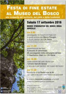 Festa di fine estate al Museo del Bosco a Orgia