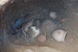 La tomba ellenistica n. 18/A, rinvenuta nei pressi della toniba n. 16