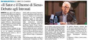 Il Sator e il Duomo di Siena» Debutto agli Intronati
