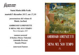 presentazione del volume di  Mario Ascheri  Ambrogio Lorenzetti e Siena nel suo tempo